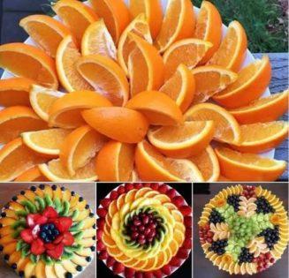 Τι όμορφα διακοσμημένα φρούτα !!...