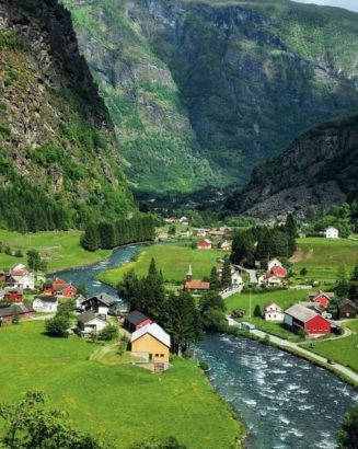 A beautiful village in Norway...