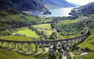 Beautiful view of nature and railways, Scotland...