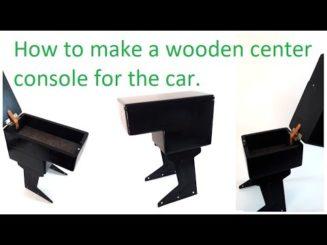 How to make a wooden center console for the car. Tutorial. Κατασκευή κονσόλας αυτοκινήτου.