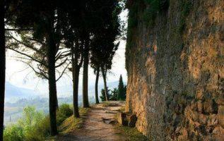 Morning walk in the San Gimignano, Italy...