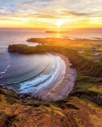 Silver Strand Beach, County Donegal, Ireland...