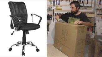 Unboxing και συναρμολόγηση καρέκλας γραφείου.