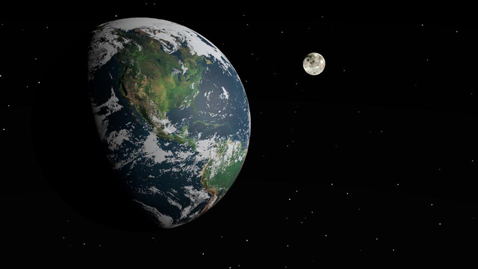 Γνωρίζατε ότι, ότι παρόλο που η σελήνη περιστρέφεται μας δείχνει πάντοτε την ίδι... 1