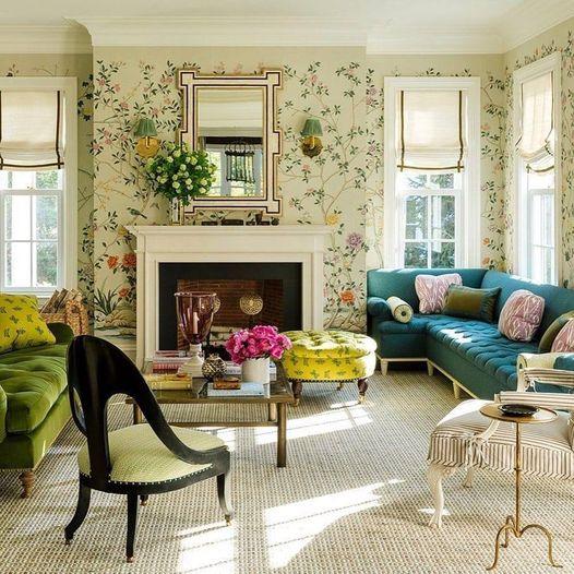 Υπέροχο φρέσκο ανοιχτό δωμάτιο με όμορφα χρώματα... 1