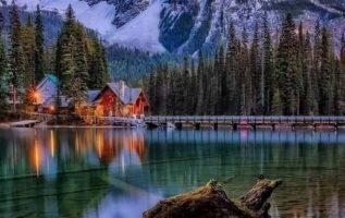 Emerald Lake, B.C. Canada,...