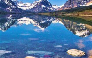 Lake Sherburne,Montana USA...
