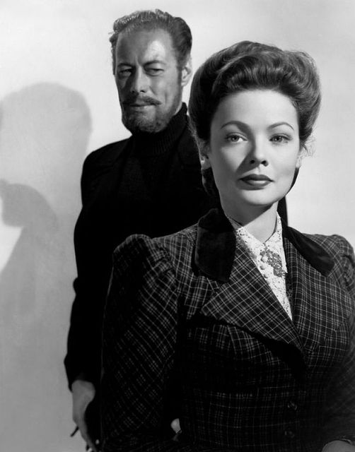 Rex Harrison and Gene Tierney. The Ghost and Mrs. Muir (1947). #ghoststories... 1