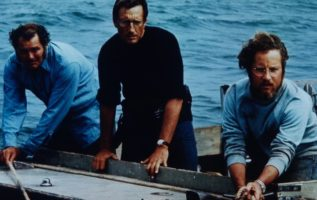 Robert Shaw, Roy Scheider and Richard Dreyfus. Jaws (1975). #Monsters...