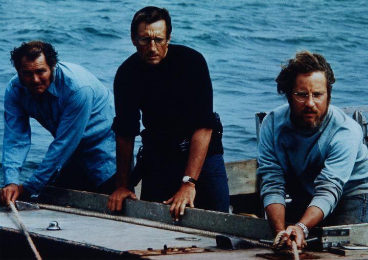 Robert Shaw, Roy Scheider and Richard Dreyfus. Jaws (1975). #Monsters... 1