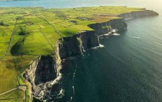 Top view of The Cliffs of Moher, Ireland.  : @brian_wellboy...