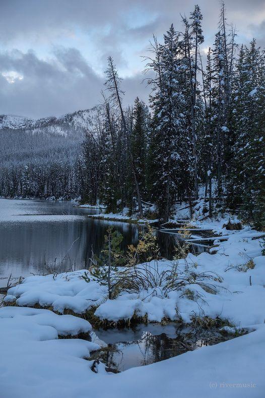 Tranquil Moments, Sylvan Lake, Yellowstone National Park, Wyoming... 1